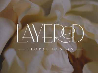 Layered Floral Design Logo