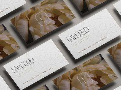 Layered Floral Design Studio Business Card