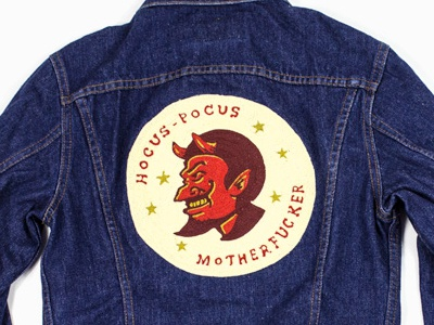 Hocus Pocus is REAL illustration apparel contino brand lettering