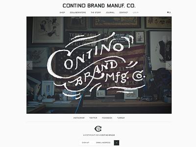 Contino Brand is LIVE branding contino brand lettering apparel