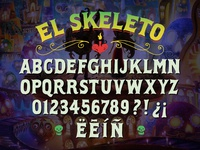 "The Book of Life ""El Skeleto"" font design"