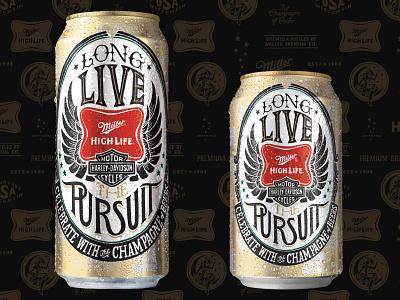 Miller High Life lettering illustration beverage beer collab
