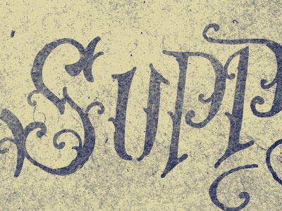 Supp! lettering process