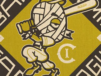 Invisible Creature Farm League lettering illustration baseball collab