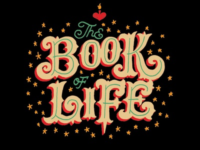 The Book of Life Logo lettering branding