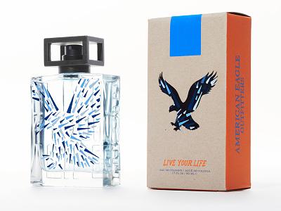 American Eagle branding lettering illustration package design product design