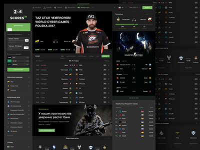 Scores24: Cybersport CS:GO scores24 sport cybersport betting csgo dota dark