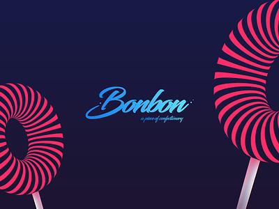 Bonbon invite sweet bonbon candy brand logo