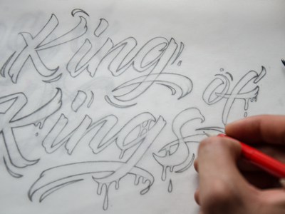 King of kings lettering sketch