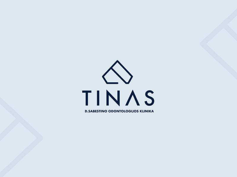 Tinas Dental Clinic Branding abstract luxury minimal diamond pastel teeth blue clinic dental branding repiano
