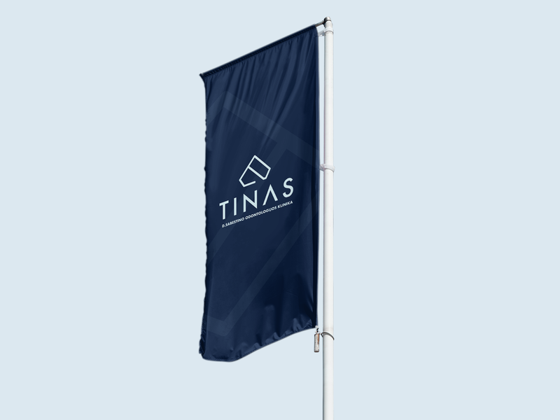 Tinas Dental Clinic Branding - Flag repiano branding dental clinic blue teeth pastel diamond minimal luxury abstract