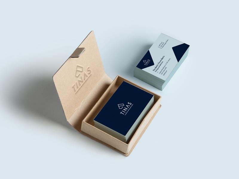 Tinas Dental Clinic Branding business card design business card repiano branding dental clinic blue teeth pastel diamond minimal luxury abstract