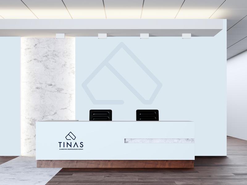 Tinas Dental Clinic Branding - Reception repiano branding dental clinic blue teeth pastel diamond minimal luxury abstract