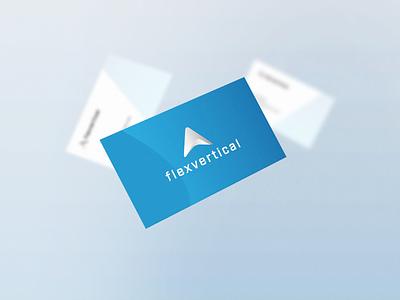 Flex Vertical  Branding - Business Card minimal design soft design logo design professional design repiano vertical branding business card blue