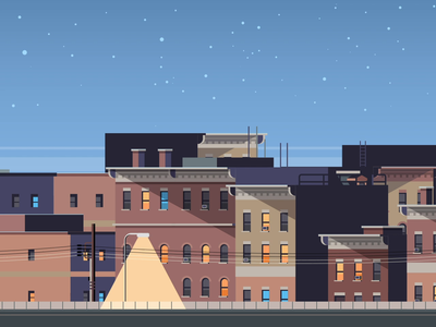 Empty City Parallax Animation lights out staysafe stayhome repiano animation city at night city daily practice quarantine empty city 2d animation