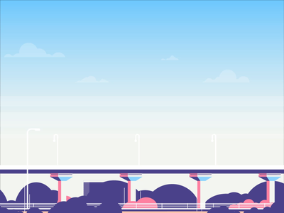 Growing City Animation city guide 2d animation animation growing bright city animation cityscape train repiano subway city