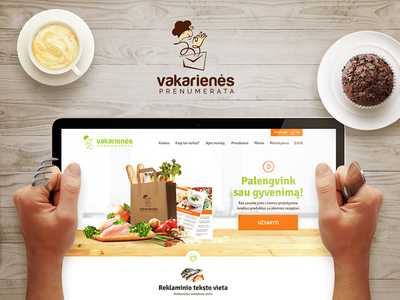 Dinner subscription web page dinner-subscription web-design