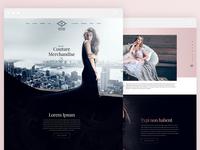 Couture Merchandise Web Design