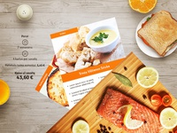 Dinner subscription landing page