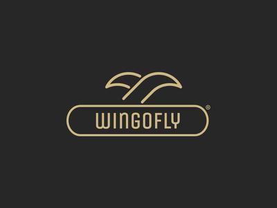 Wingofly Branding mark logo solid luxury repiano fly wing
