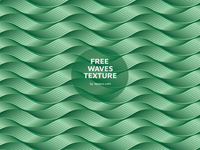 Green Wave Texture Freebie (free vector)