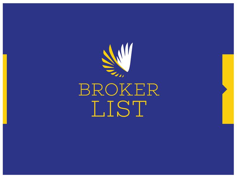 Broker List repiano yellow blue list broker
