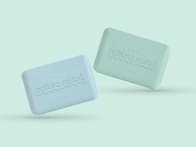 Natura Resort Spa Branding packaging branding design soft soap bathroom bath holiday rest spa resort repiano nature