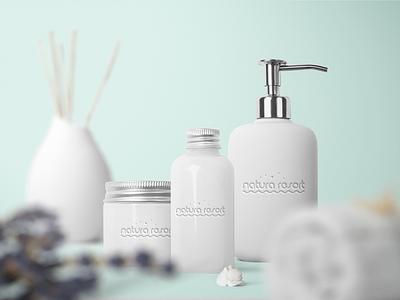 Natura Resort Spa Branding nature repiano resort spa rest holiday bath bathroom soap soft design branding packaging