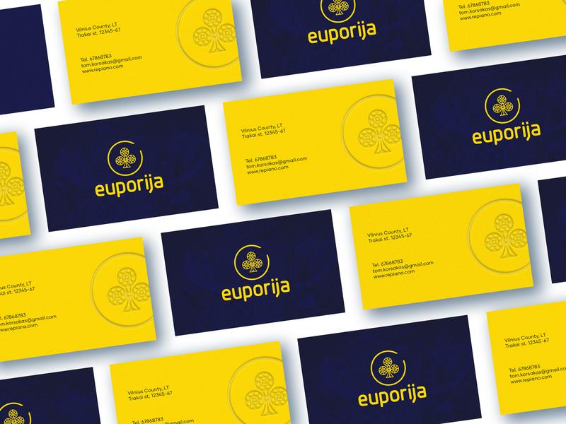 Euporija Branding Business Card cards poker gambling design business card corporate branding repiano