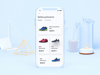 Shoes Ecommerce App (XD auto animate)
