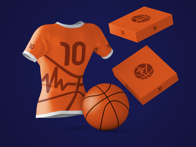 Basketpulse Branding basketball jersey basketball logo soft packaging design awesome orange repiano mockup shirts branding packaging basketball