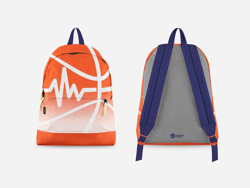 Basketpulse Branding packaging design bag design tomaskor repiano awesome orange mockup branding basketball logo basketball jersey jersey basketball pulse merch bag branding bag