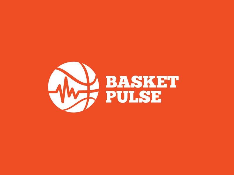 BasketPulse Logo kobe lebron jordan court orange branding awesome logo pulse basketball logo basketball