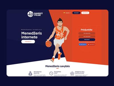 BasketPulse UI/UX tomaskor repiano game winner kawhi basketbalk manager manager online manager basketball player orange user experience user interface uiux ui basketball