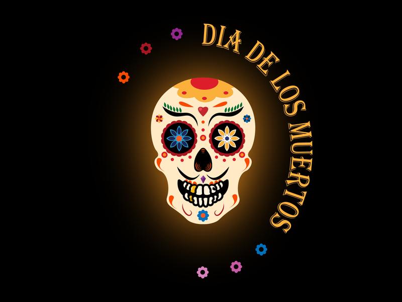 Dia De Los Muertos graphic  design colors pattern dia de los muertos