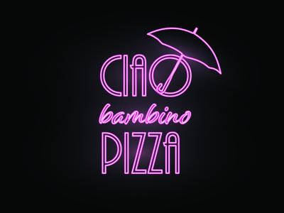 Ciao bambino | Pizzeria identity for sale
