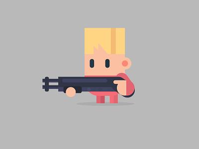 The boy with the gun vector vectorcharacter character boy gun