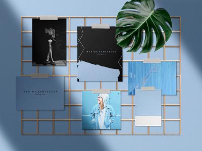 Branding for women store grapgic design brand logo style branding women blue design