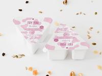 Label for natural yogurt