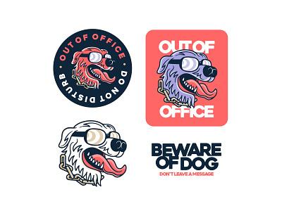 Out of Office lettering design logo typography illustration illustrator vector branding badgedesign graphic design