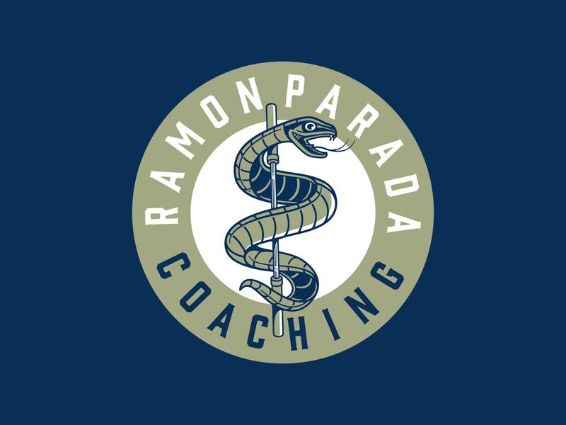 Ramon Parada Coaching snake photoshop lettering logo typography badgedesign branding vector illustrator illustration graphic design