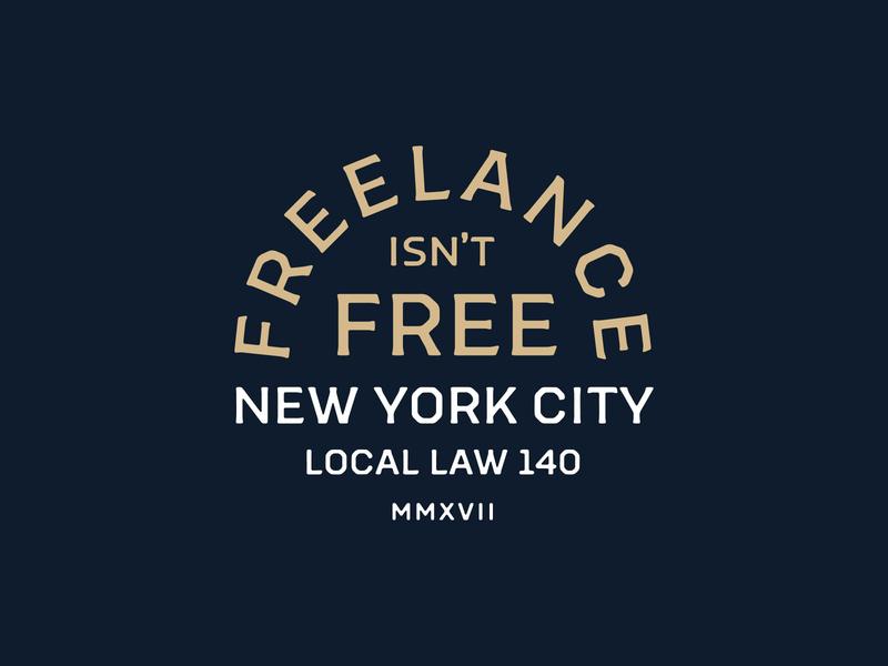 Freelance Isn't Free payme freelance nyc photoshop lettering logo typography badgedesign branding vector illustrator illustration graphic design
