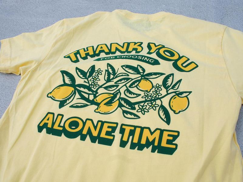 Thank You For Choosing Alone Time Tees lemons nyc tshirt art merch design logo typography badgedesign branding vector illustrator illustration graphic design