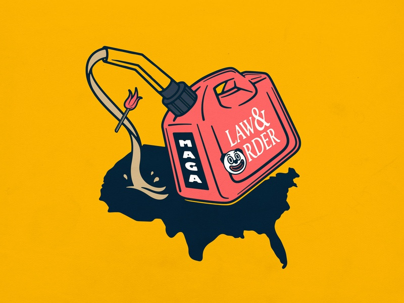 Monsters Are Governing America no justice no peace gasoline procreate lettering photoshop branding maga vector typography badgedesign illustrator illustration graphic design