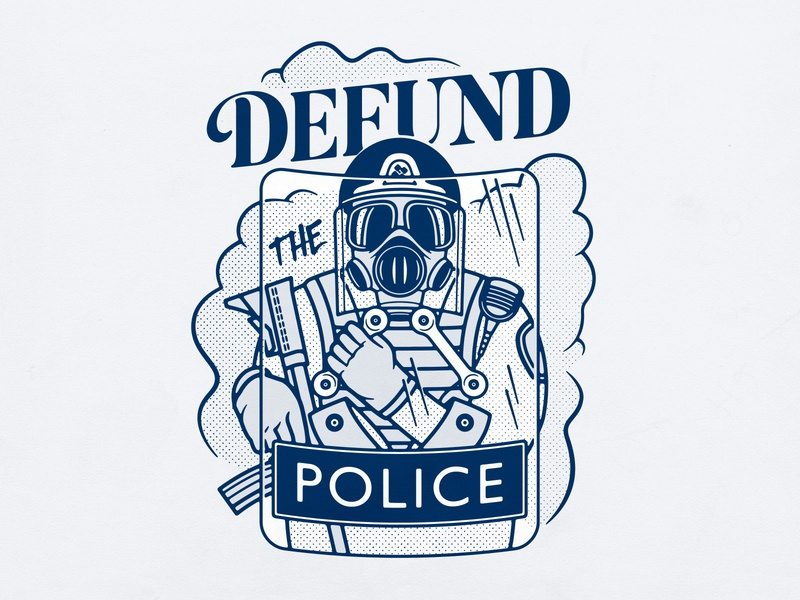 Defund The Police photoshop no justice no peace defund the police branding logo typography badgedesign illustrator vector illustration graphic design