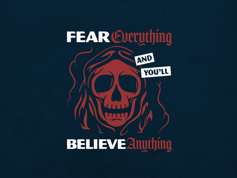Fear Everything texture procreate lettering skull design photoshop logo typography badgedesign branding vector illustrator illustration graphic design