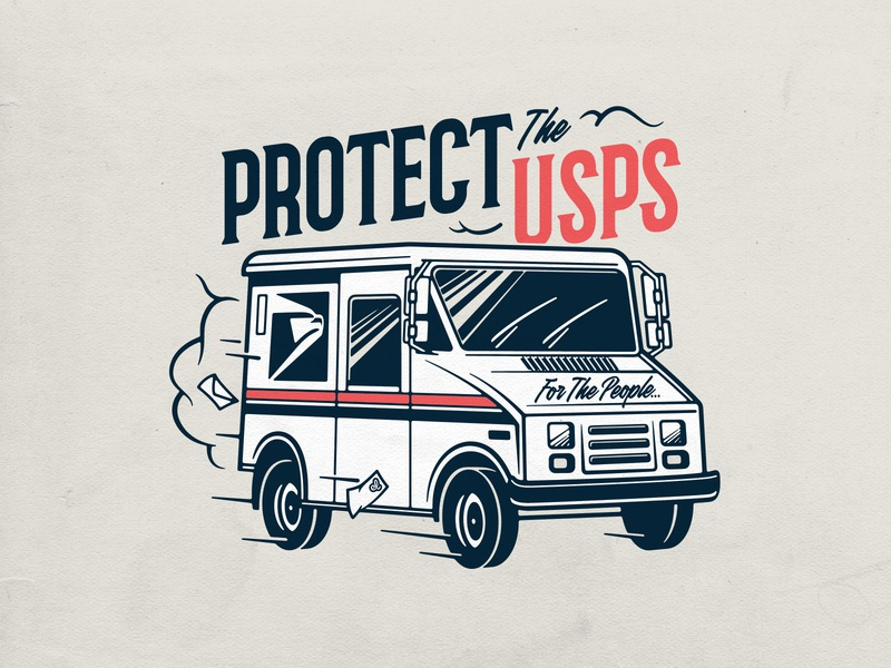 Save the mail! protect the usps save the mail typography usps lettering photoshop logo badgedesign branding vector illustrator illustration graphic design