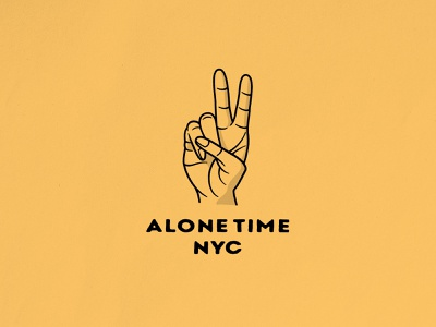 Give Me Peace lockup peace sign nyc alone time hand peace merch design photoshop logo typography badgedesign vector branding illustrator illustration graphic design