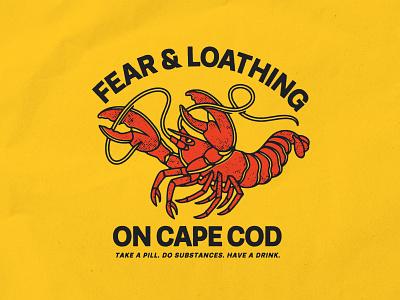 Cape Cod seafood cape cod lobster piebald brand identity merch design logo typography badgedesign vector branding illustrator illustration graphic design