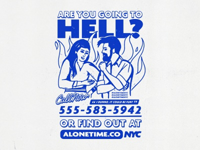 Are you going to hell? merch hell advertising logo design vector typography branding badgedesign illustrator illustration graphic design